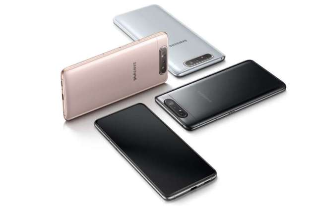 "Samsung Galaxy A80 with World's ""First 48MP Rotating Triple Camera"""