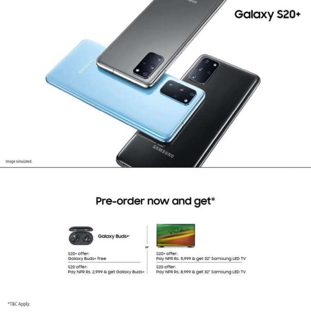 Pre-Order for Samsung Galaxy S20 and S20+