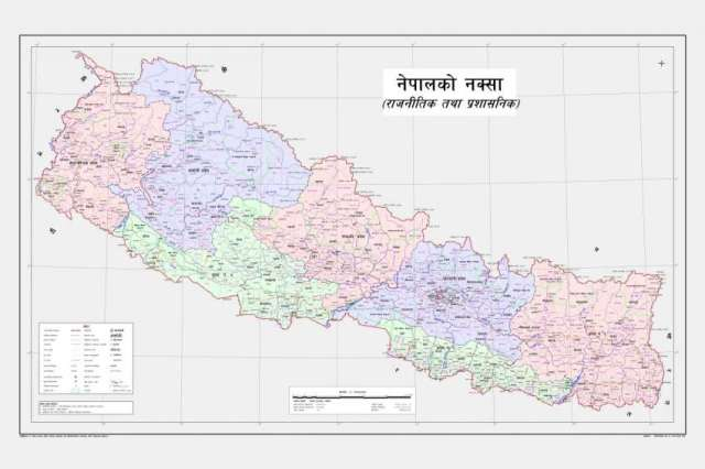 Nepal unveils new political map
