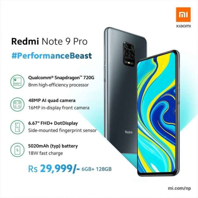 Xiaomi launches Redmi Note 9 Pro