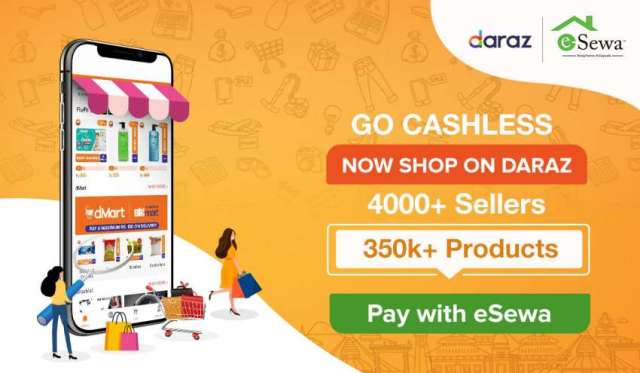 Order online from Daraz, Pay using eSewa