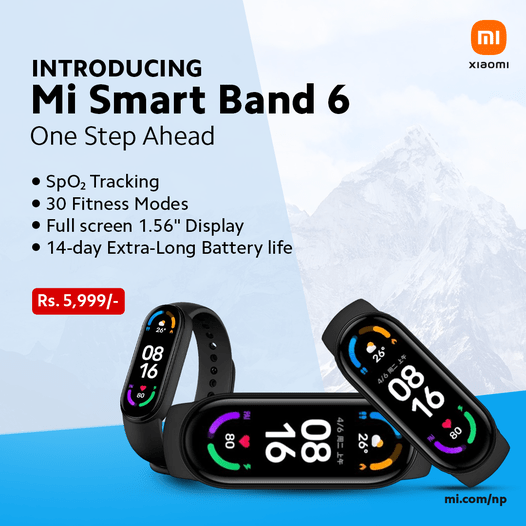 MI band 6 launched in Nepal