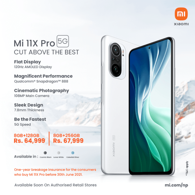 Xiaomi Mi 11X Pro with  108MP camera launched in Nepal