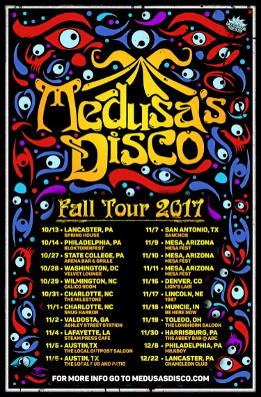Medusa's Disco 2017 Fall Tour Poster
