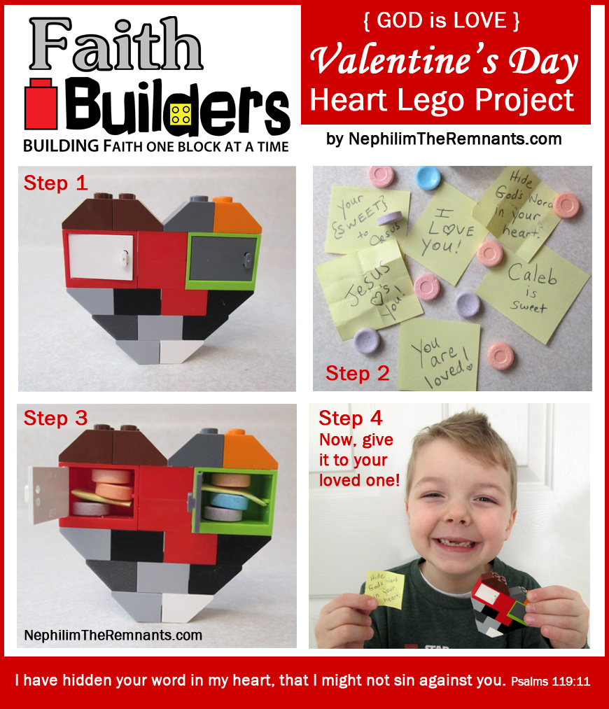 Faith Builders Heart Lego Project - Day 1