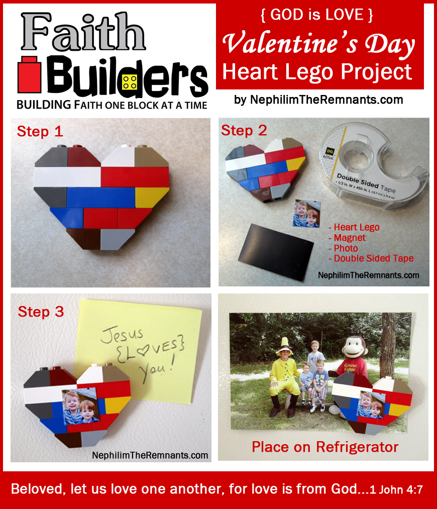Faith Builders Heart Lego Project – Day 3