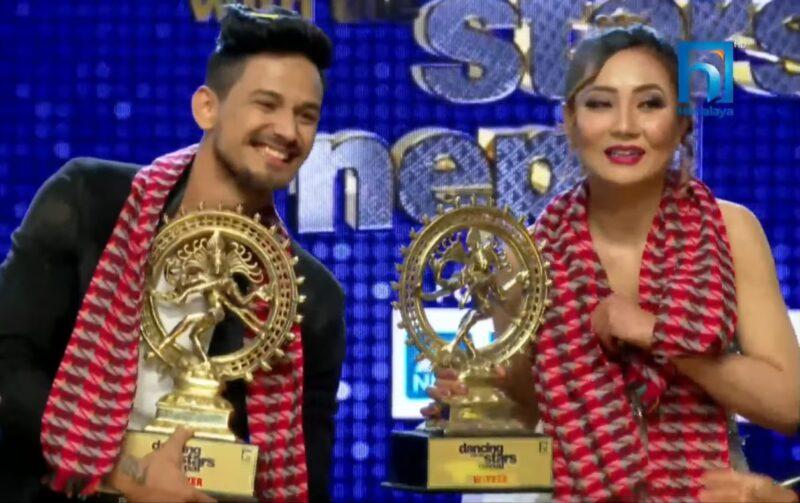 Sumi Moktan and Viju Parki  is the Winner of Dancing with Stars Nepal Season 1