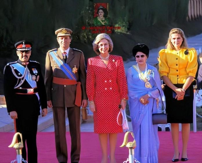 Juan Carlos I of Spain,Queen Sofía of Spain and Infanta Cristina