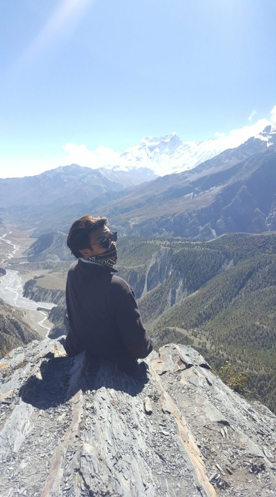 A guy in Himalayas