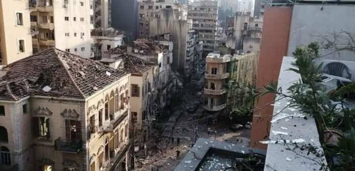 Ripped houses in Lebanon explosions