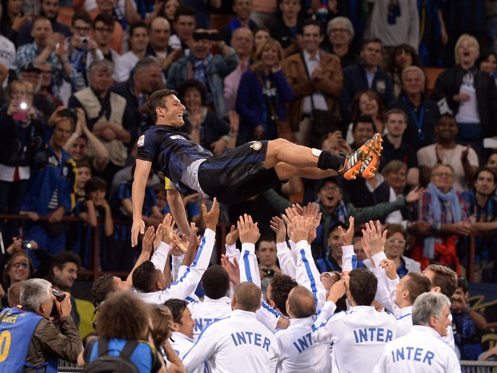 Internazionale legend Javier Zanetti at his last match before retiring