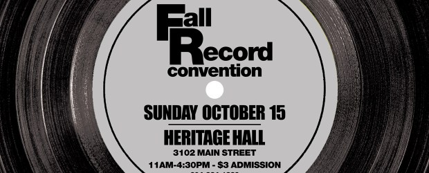SundayOctober 15th, 2017is our semi-annual Record Convention. This time it will be held at Heritage Hall (3102 Main Street) Admission is $3 11am-4:30pm (No Early Bird!) If you would like […]