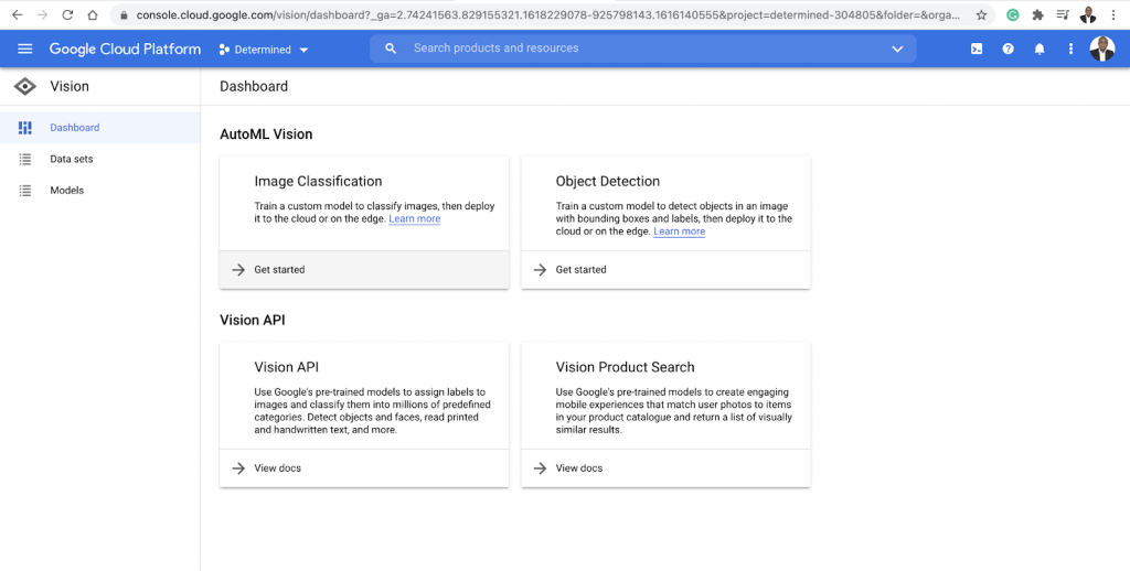 Computer vision tools - Google cloud api