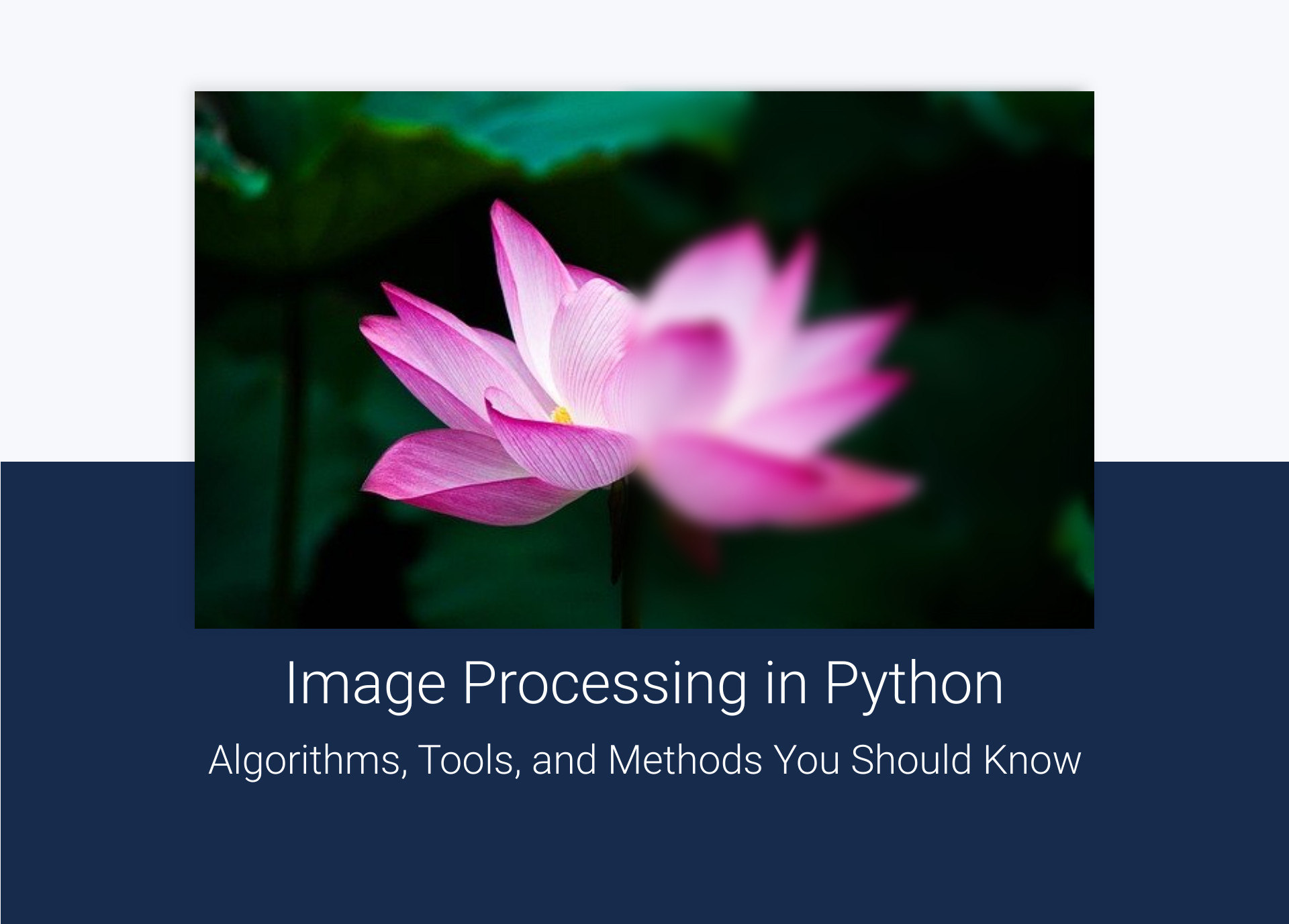 Image processing in python