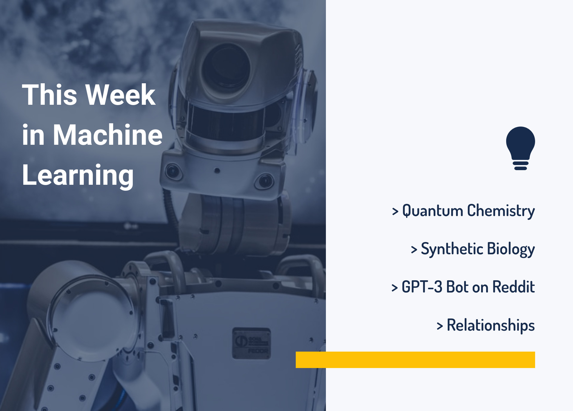 This Week in Machine Learning: Quantum Chemistry, Synthetic Biology, GPT-3 Bot on Reddit, and Relationships