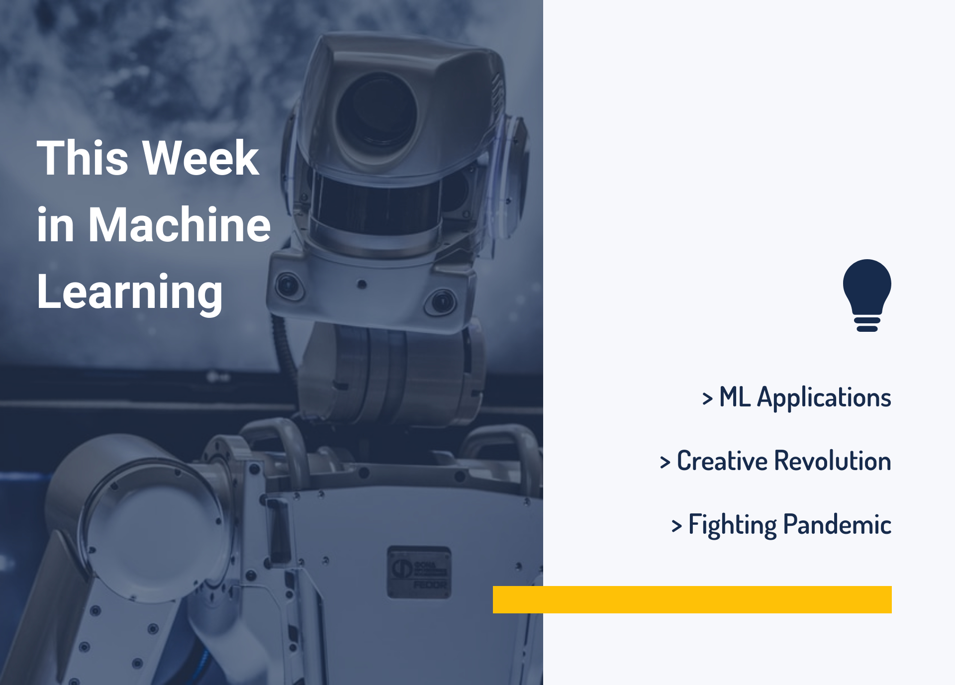 This Week in Machine Learning: ML Applications, Creative Revolution, and Fighting Pandemic