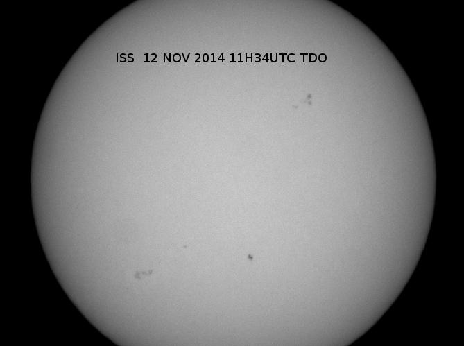 ISS devant le Soleil