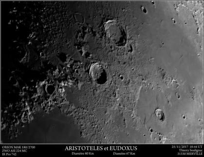 Aristoteles et Eudoxus Orion MAK 180/2700 ZWO ASI 224MC Filtre IR Pro 742