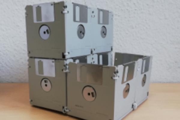 DIY ⇒ Disketten-Schreibtischaufbewahrung