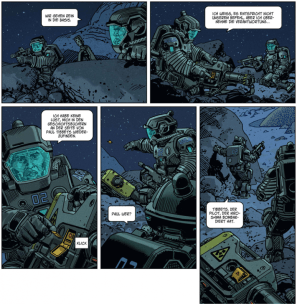 EXO 3, Ausschnitt Seite 3, Splitter Verlag
