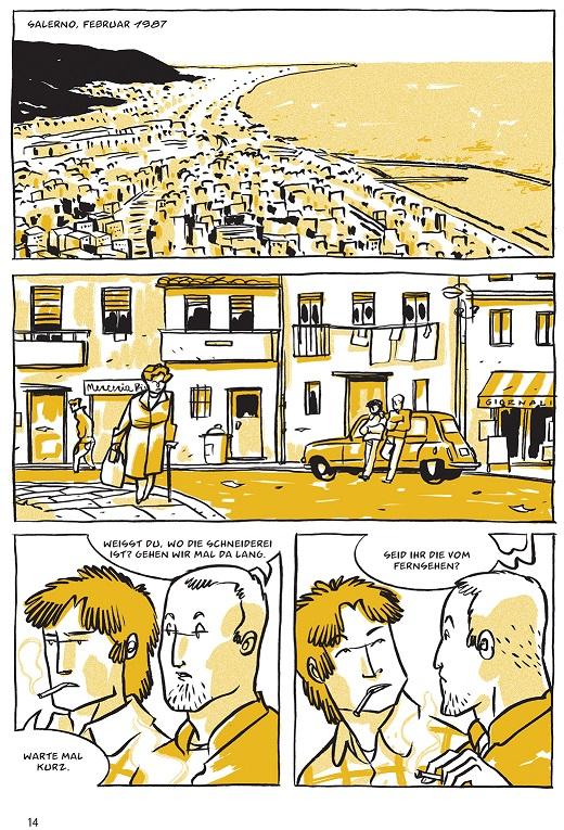 Insel der Männer, Schreiber & Leser, Seite 14