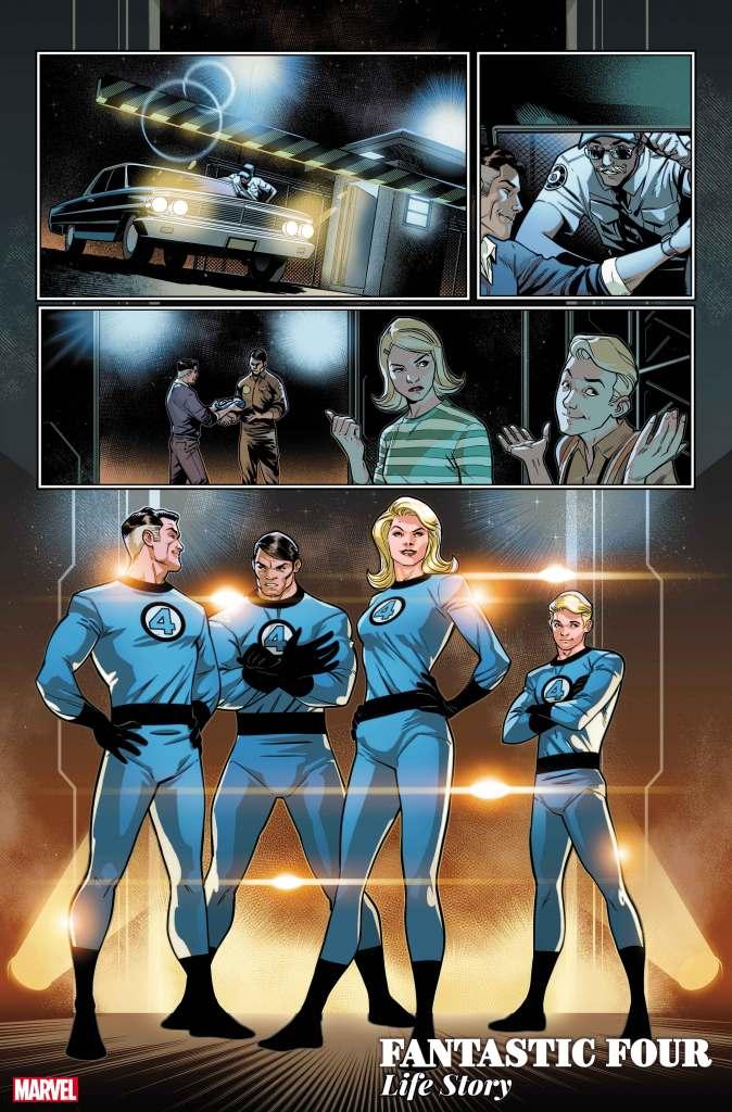 Fantastic Four Life Story Panel