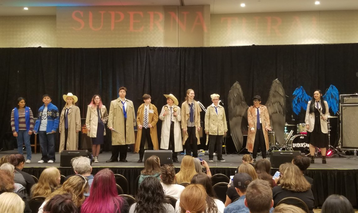 Castiel costume contest at SPN Denver Con. Photo credit to Colleen Bement