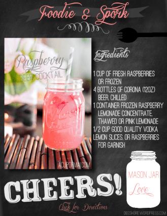 Foodie & Spork - Raspberry Beer Cocktail