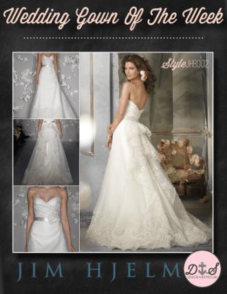 Wedding Gown Of The Week - Jim Hjelm StyleJH8002