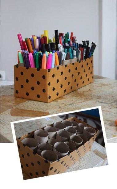 DIY Box Makeup Brush Holder
