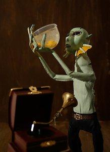 Abe Sapian, Hellboy, Mike Mignola, comic book, puppet, sculpture, 3D, 3D illustration, illustration
