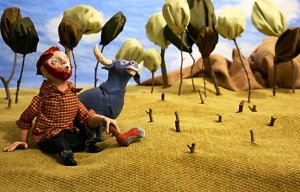 folk tale, paul bunyan, ox, children, children's book, picture book, 3D, 3D illustration