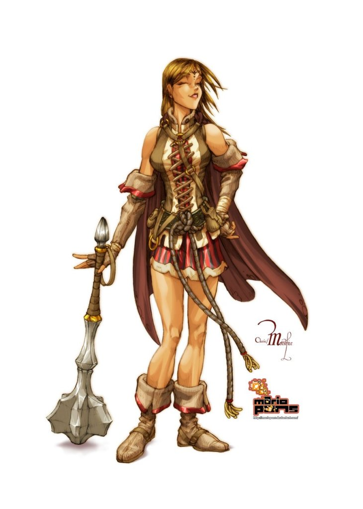 running D&D games cleric party roles