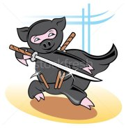 Pig Ninja character