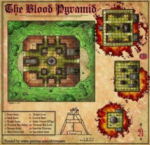 Elven Tower maps D&D