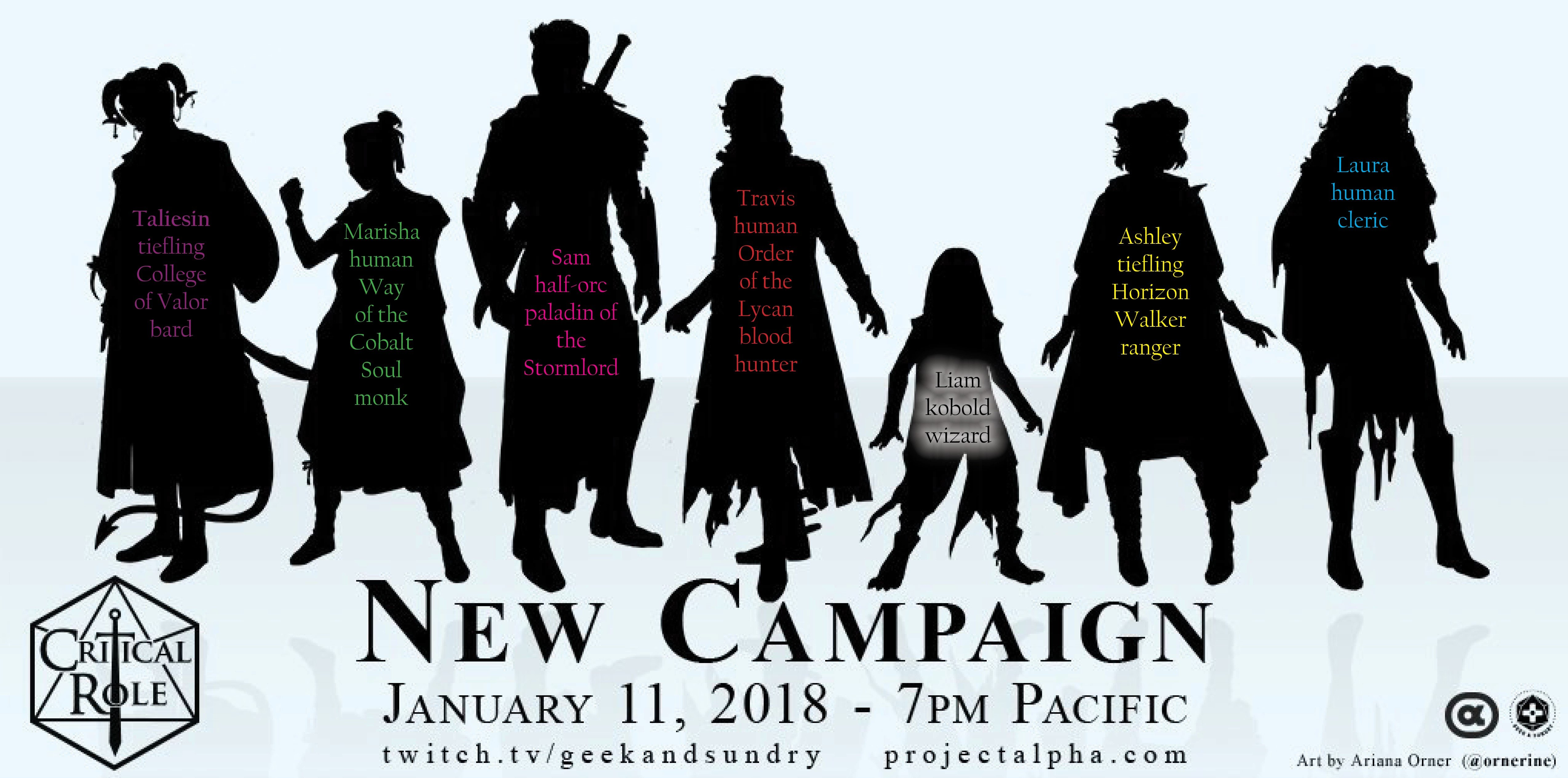 Critical Role #silhouettewatch Predictions for New Campaign