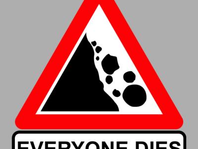 rocks fall