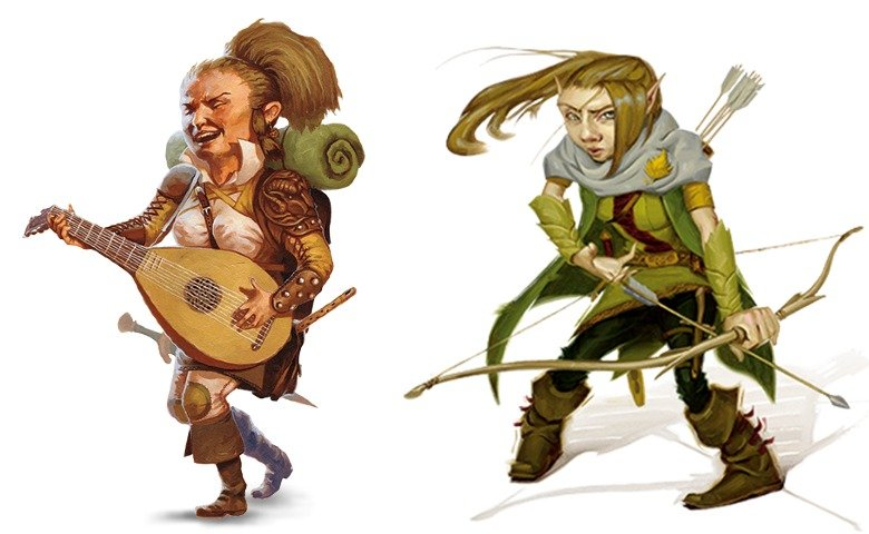 halflings and gnomes in D&D