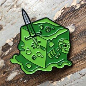 Gelatinous Cube Enamel Pin