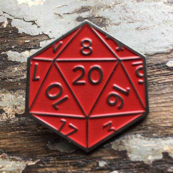 Natural 20 Enamel Pin