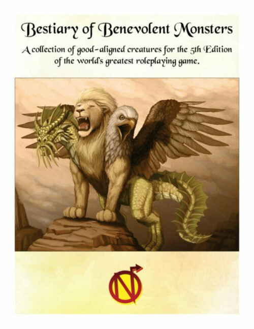 Bestiary of Benevolent Monsters for 5th Edition