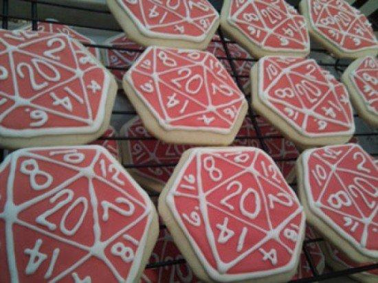 dice cookies D&D
