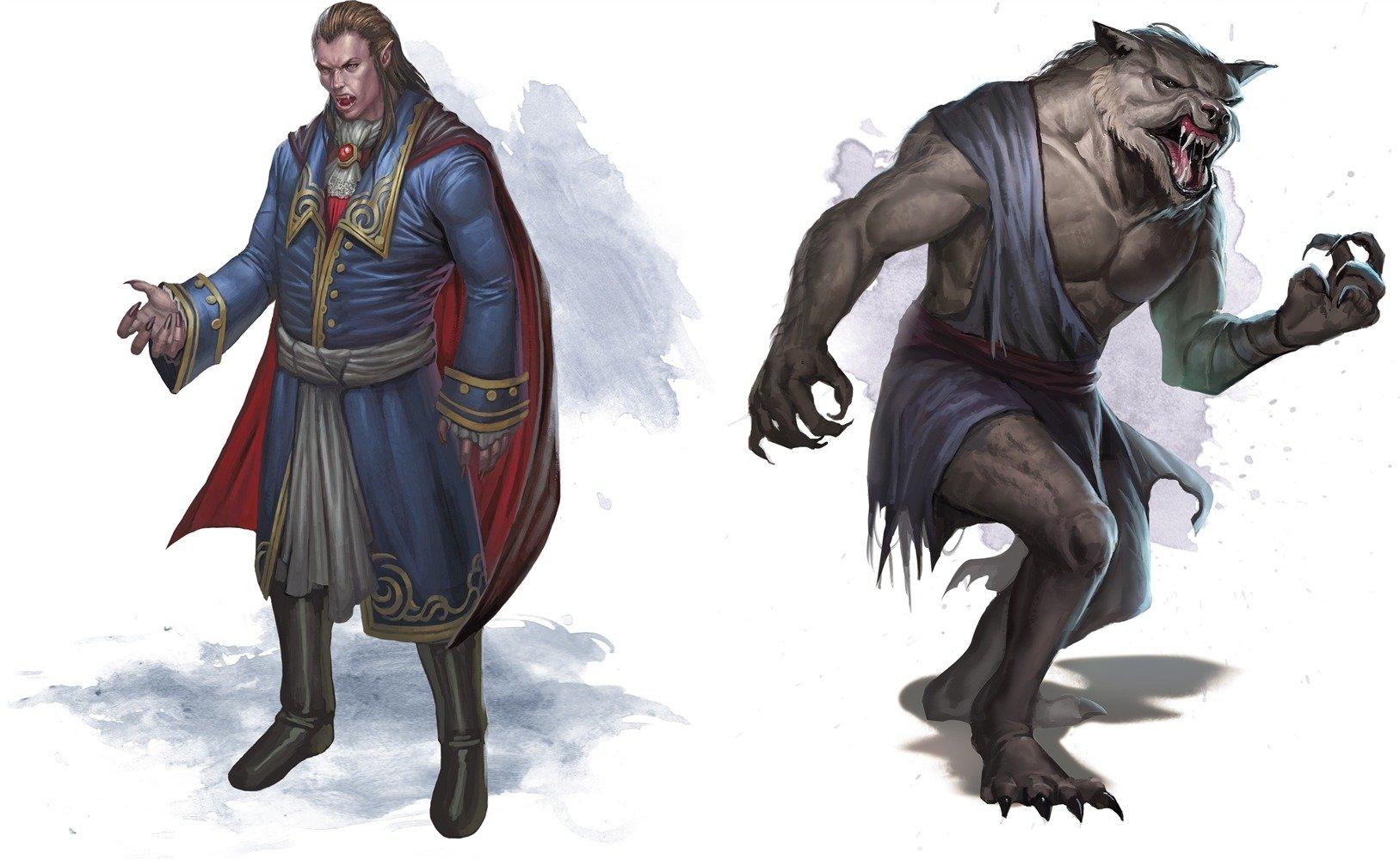 vampire werewolf 5E D&D