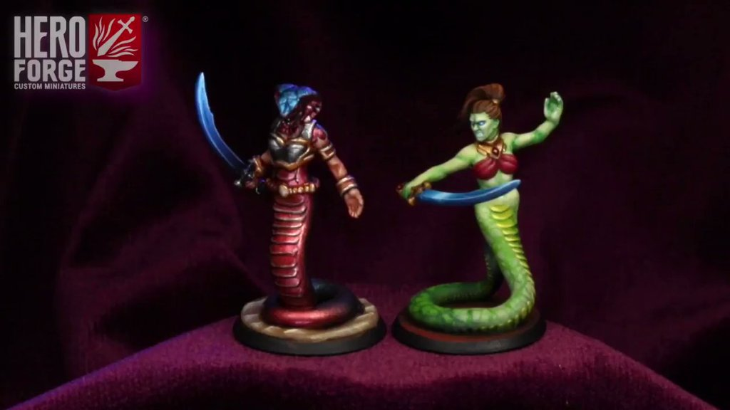 Hero Forge serpentfolk naga