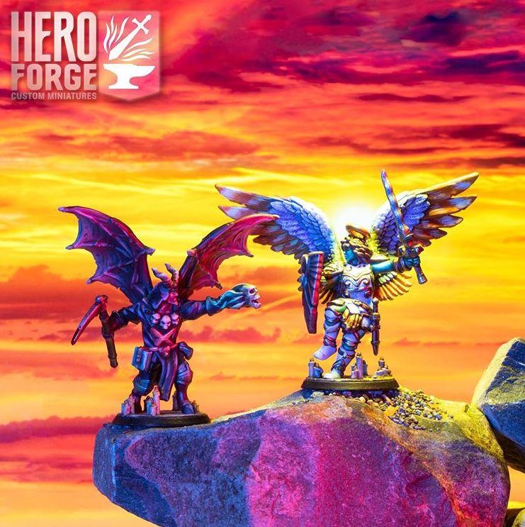customizable miniatures Hero Forge celestial infernal