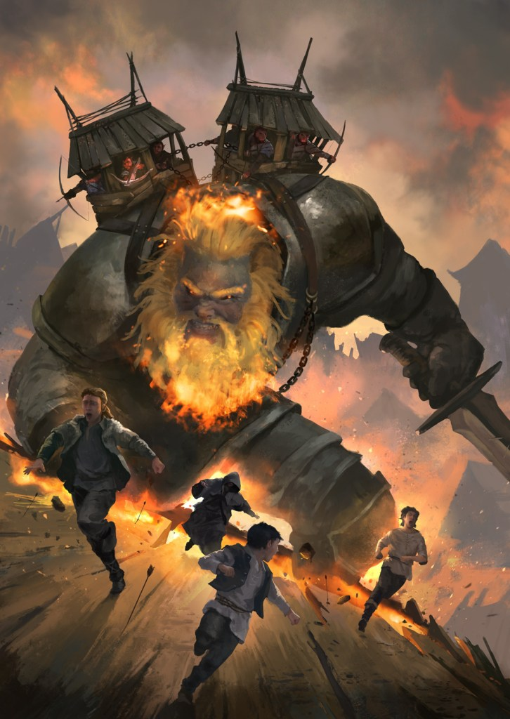 5E D&D fire giant nerdarchy out of the box