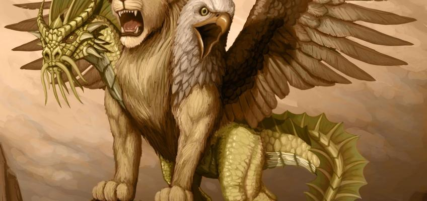 5E D&D golden chimera good monster