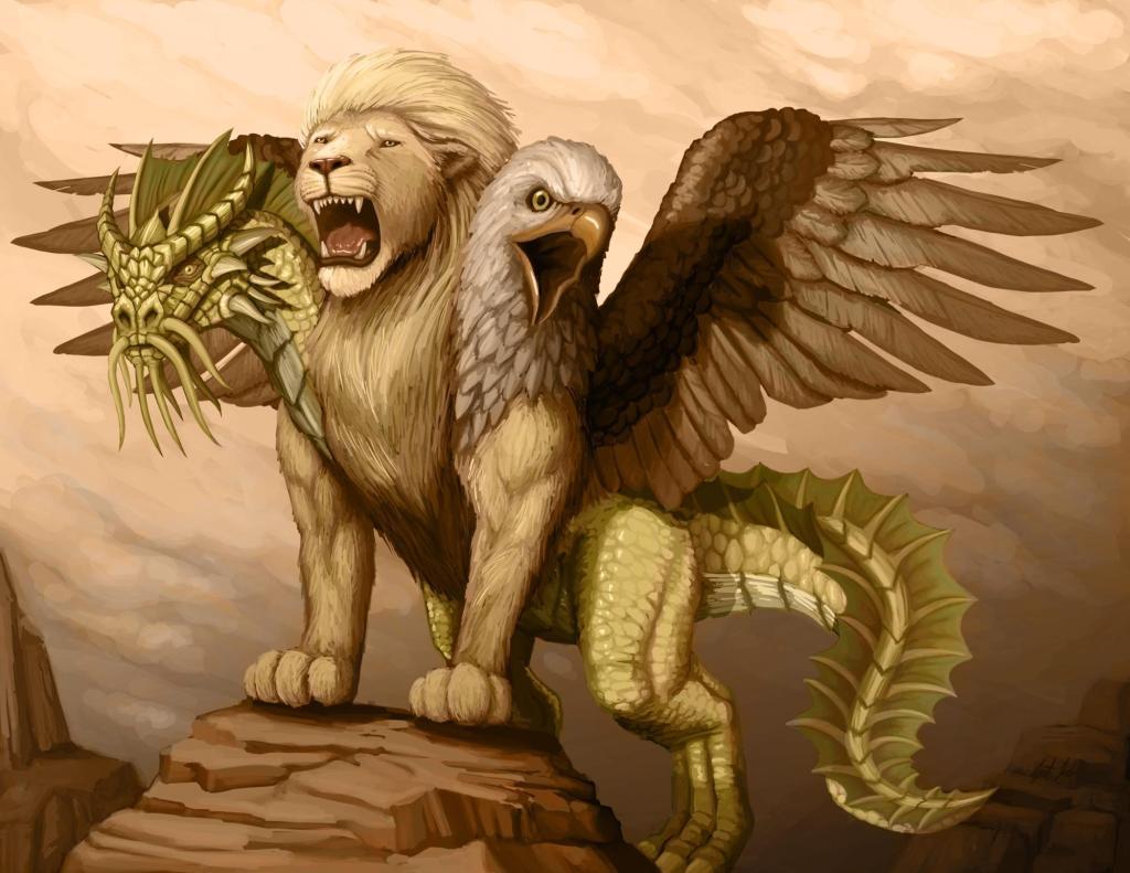 5E D&D golden chimera good monster