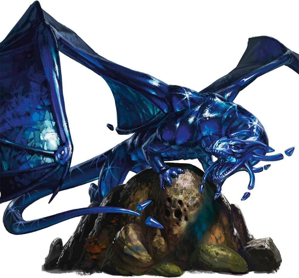 5E D&D sapphire dragon gem dragon WizKids
