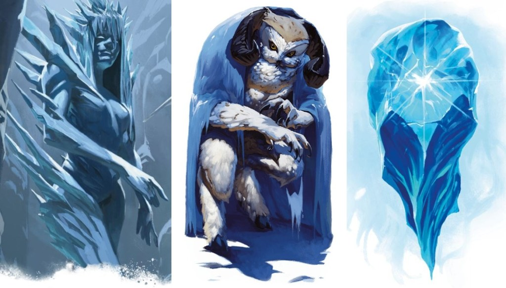 5E D&D Icewind Dale Rime of the Frostmaiden monsters